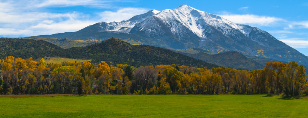 Beautiful Fall Colors Mount Sopris Colorado Elk Mountains